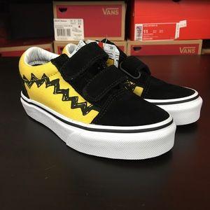 Vans Peanuts Old Skool V Charlie Brown Black Kids